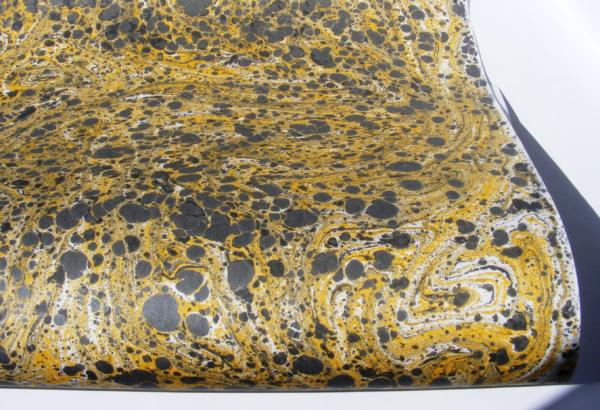 papier marmurkowy szaro-żółty, papier introligatorski
