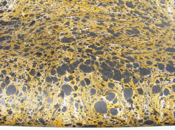 papier marmurkowy szaro-żółty
