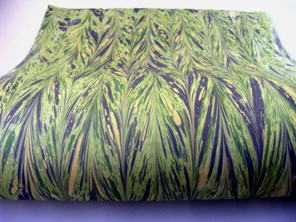 papier marmurkowy zielony gelgit