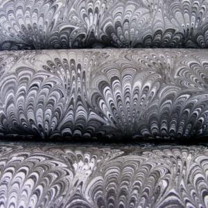 papier marmurkowy hertmanus, papier marmoryzowany pawie ogony