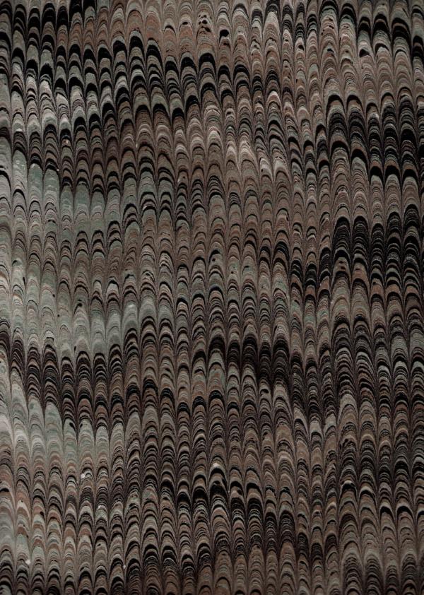 papier marmurkowy grzebieniowy ciemny, papier marmoryzowany, papier introligatorski