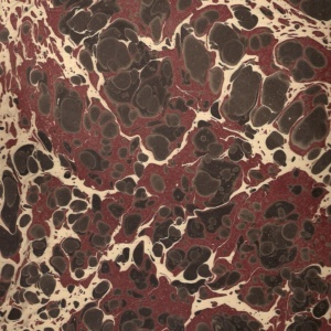 papier marmurkowy battal czarno-bordowy, papier introligatorski, papier marmoryzowany, papier marmurkowy malowany ręcznie na powierzchni wody, marbling art