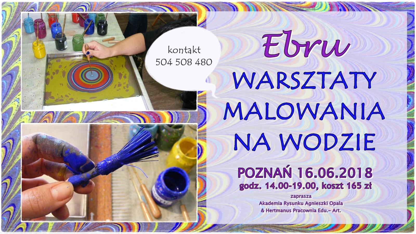 warsztaty malowania na wodzie- ebru Poznań