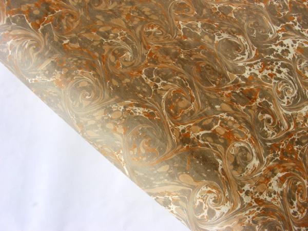 papier marmurkowy szaro-piaskowe wiry, papier marmoryzowany, papier introligatorski