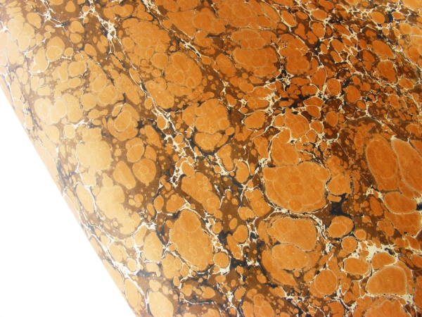 papier marmurkowy brązowy battal, papier marmoryzowany, papier introligatorski