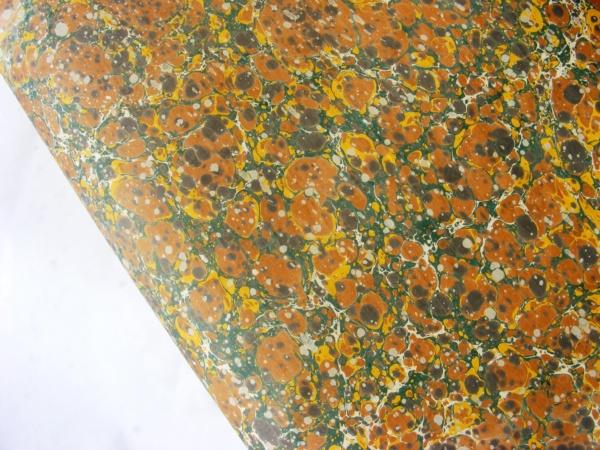 papier marmurkowy jesienny drobny battal, papier marmoryzowany, papier introligatorski