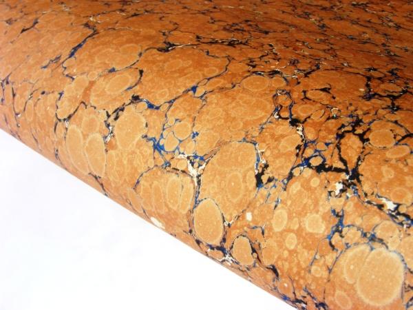 papier marmurkowy ceglasty battal, papier marmoryzowany, papier introligatorski