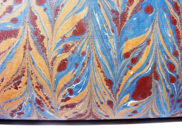 papier marmurkowy ceglasty gelgit, papier marmoryzowany, papier introligatorski