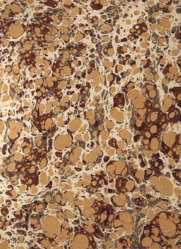 papier marmurkowy brązowo-złoty battal, papier marmoryzowany, papier marmurkowy malowany ręcznie na powierzchni wody, papier introligatorski, dla konserwatorów papieru, marbled paper