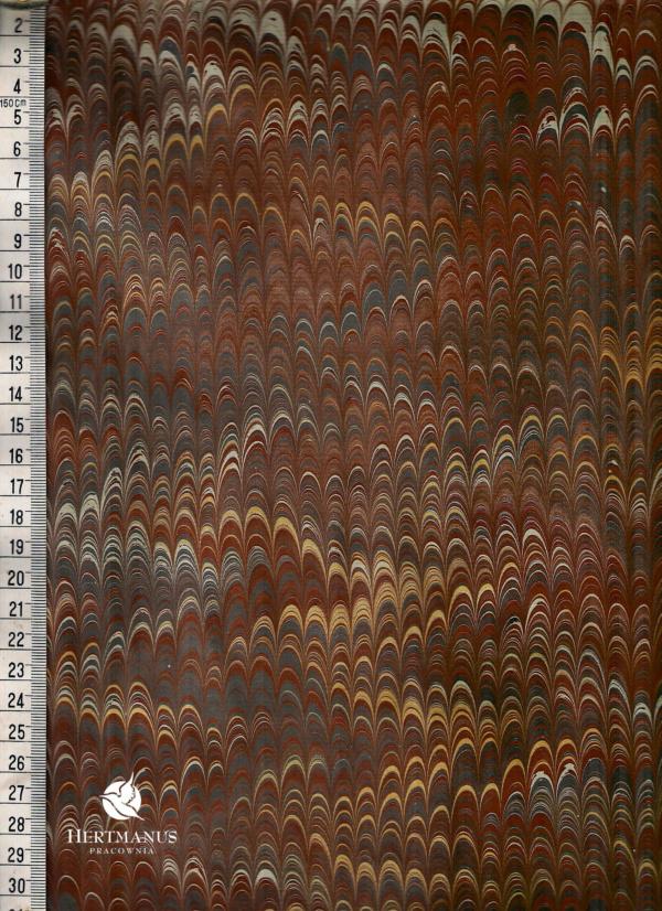 papier marmurkowy szaro-brązowy, papier marmoryzowany, papier marmurkowy malowany ręcznie na powierzchni wody, papier introligatorski, dla konserwatorów papieru, hertmanus, marbled paper