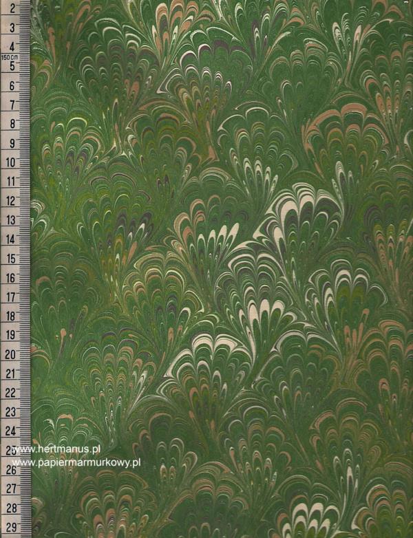 papier marmurkowy zielony bouquet, papier marmoryzowany, papier marmurkowy malowany ręcznie na powierzchni wody, papier introligatorski, dla konserwatorów papieru, hertmanus, marbled paper