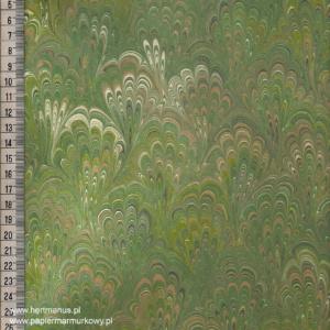 papier marmurkowy bouquet zielony jasny, papier marmoryzowany, papier marmurkowy malowany ręcznie na powierzchni wody, papier introligatorski, dla konserwatorów papieru, hertmanus, marbled paper