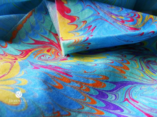 warsztaty malowania na wodzie- papier-tkanina