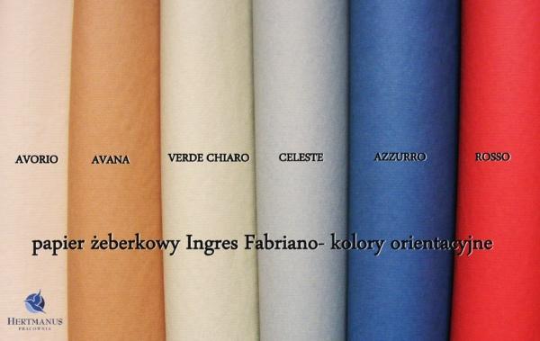 Papier żeberkowy Fabriano ingres-kolory orientacyjne