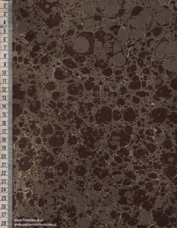 papier marmurkowy brązowy, papier marmoryzowany, papier marmurkowy malowany ręcznie na powierzchni wody, papier introligatorski, materiały do konserwacji papieru, hertmanus, marbled paper