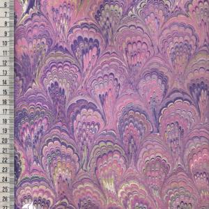 papier marmurkowy różowo-fioletowy bouquet, papier marmoryzowany, papier marmurkowy malowany ręcznie na powierzchni wody, papier introligatorski, dla konserwatorów papieru, hertmanus, marbled paper