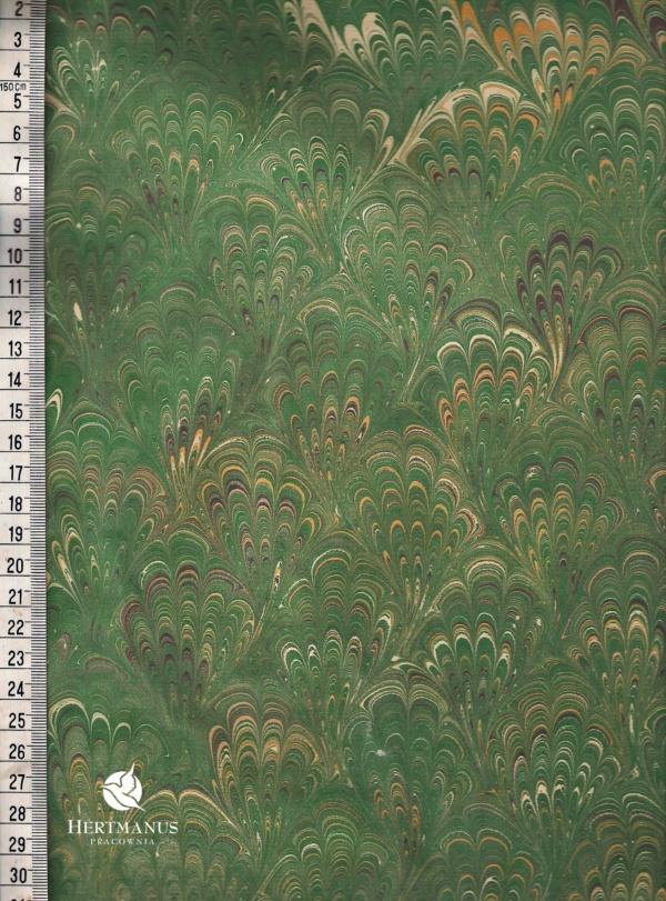 papier marmurkowy zielony bouquet 2, papier marmoryzowany, papier marmurkowy malowany ręcznie na powierzchni wody, papier introligatorski, dla konserwatorów papieru, hertmanus, marbled paper
