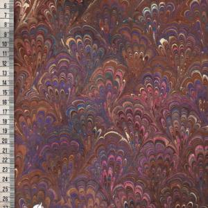 papier marmurkowy brązowo-fioletowy bouquet, papier marmoryzowany, papier marmurkowy malowany ręcznie na powierzchni wody, papier introligatorski, dla konserwatorów papieru, hertmanus, marbled paper