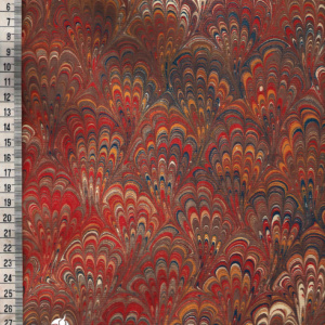 papier marmurkowy brązowo-czerwony bouquet, papier marmoryzowany, papier marmurkowy malowany ręcznie na powierzchni wody, papier introligatorski, dla konserwatorów papieru, hertmanus, marbled paper