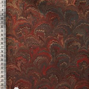 papier marmurkowy brązowo-czerwony buquet (avana), papier marmoryzowany, papier marmurkowy malowany ręcznie na powierzchni wody, papier introligatorski, dla konserwatorów papieru, hertmanus, marbled paper