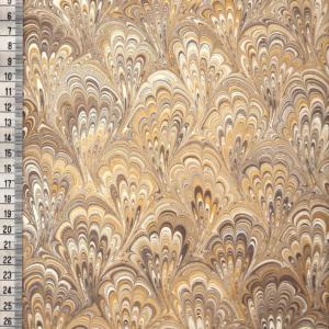 papier marmurkowy brązowo-żółty bouquet, papier marmoryzowany, papier marmurkowy malowany ręcznie na powierzchni wody, papier introligatorski, dla konserwatorów papieru, hertmanus, marbled paper