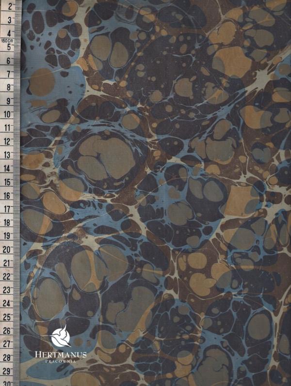 papier marmurkowy podwójny transparentny, papier marmoryzowany, papier marmurkowy malowany ręcznie na powierzchni wody, papier introligatorski, dla konserwatorów papieru, hertmanus, marbled paper