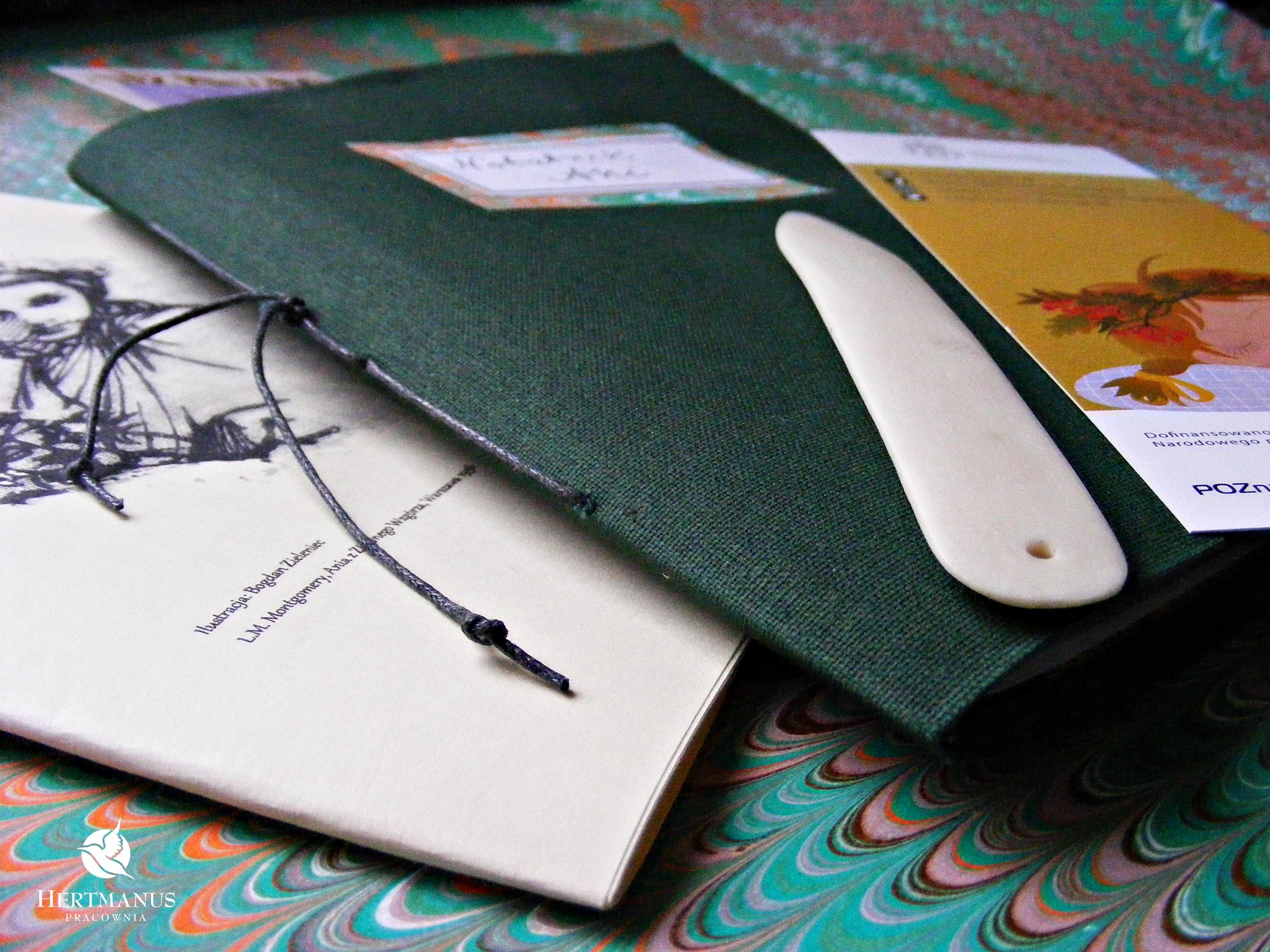 Jesień na Zielonym Wzgórzu- notes Ani, warsztaty dla dzieci w Bibliotece Raczyńskich
