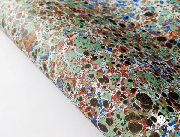 papier marmurkowy kolorowy, papier marmoryzowany, papier marmurkowy malowany ręcznie na powierzchni wody, papier introligatorski, dla konserwatorów papieru, hertmanus, marbled paper