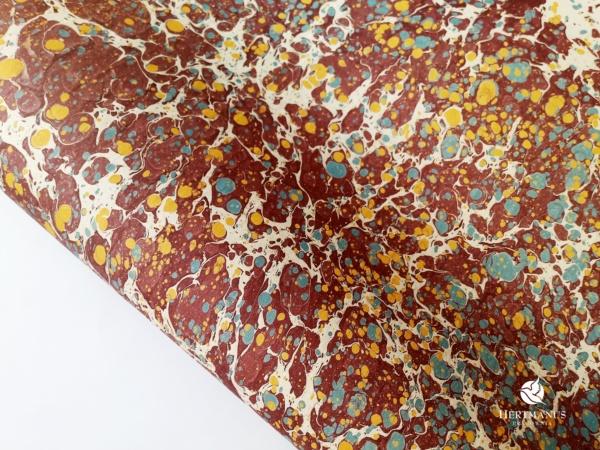 papier marmurkowy bordowy battal, papier marmoryzowany, papier marmurkowy malowany ręcznie na powierzchni wody, papier introligatorski, dla konserwatorów papieru, hertmanus, marbled paper