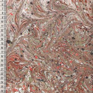 Papier marmurkowy brązowo-seledynowy zestaw, papier marmoryzowany, papier marmurkowy malowany ręcznie na powierzchni wody, papier introligatorski, dla konserwatorów papieru, hertmanus, marbled paper