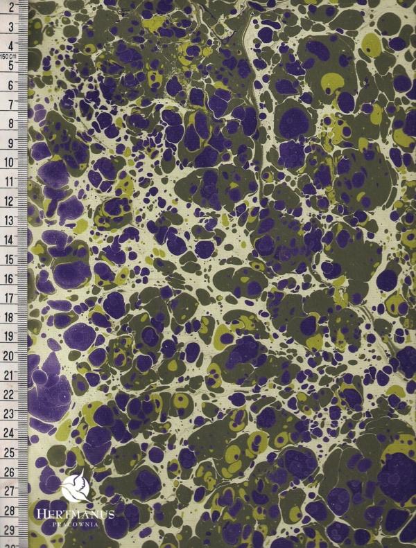papier marmurkowy jagodowy battal, papier marmoryzowany, papier marmurkowy malowany ręcznie na powierzchni wody, papier introligatorski, dla konserwatorów papieru, hertmanus, marbled paper