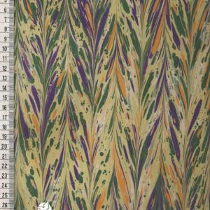 papier marmurkowy zielono-fioletowy gelgit, papier marmoryzowany, papier marmurkowy malowany ręcznie na powierzchni wody, papier introligatorski, dla konserwatorów papieru, hertmanus, marbled paper