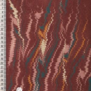 papier marmurkowy bordowy grzebieniowy, papier marmoryzowany, papier marmurkowy malowany ręcznie na powierzchni wody, papier introligatorski, dla konserwatorów papieru, hertmanus, marbled paper