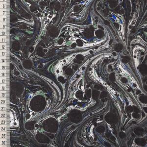 papier marmurkowy grafitowy fantazyjny, papier marmoryzowany, papier marmurkowy malowany ręcznie na powierzchni wody, papier introligatorski, dla konserwatorów papieru, hertmanus, marbled paper
