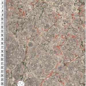 papier marmurkowy szaro-zielono-brązowy marmur, papier marmoryzowany, papier marmurkowy malowany ręcznie na powierzchni wody, papier introligatorski, dla konserwatorów papieru, hertmanus, marbled paper